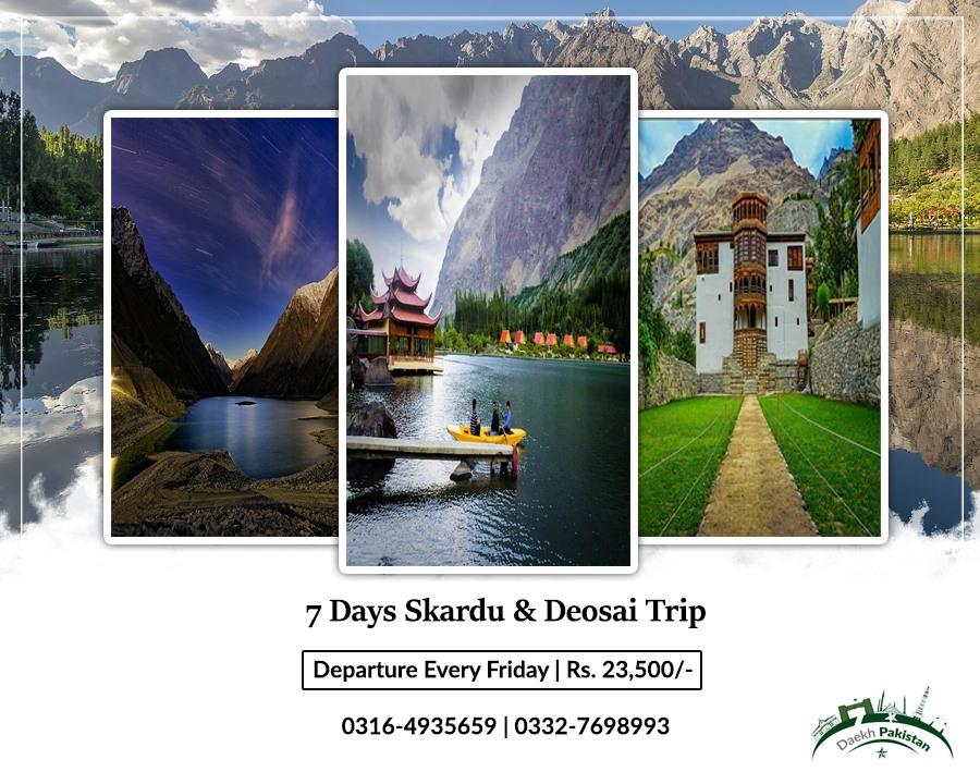 7 Days Trip to Naran Skardu & Deosai 20 Augest